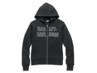 LIMITED EDITION BAR FONT EMBROIDERED DAMENHOODIE