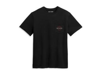 Herrenshirt Black Nightrider pocket