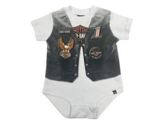 Baby Jungen Bedruckte Motorradweste-Body