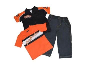 Harley-Davidson® 3-teiliges Set für kleine Jungen, Prestige-T-Shirt und Jeanshose