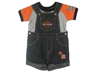 Baby Jungen 2-teilige Denim Overall Shorts