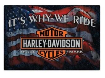 Blechschild HD why we ride
