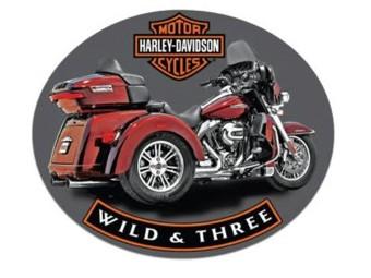Blechschild HD ® Wild & Three