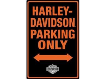 Blechschild HD parking only