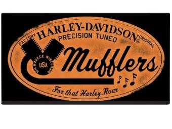 Blechschild H-D Mufflers Roar