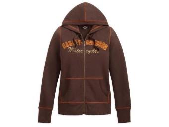 Pullover ZIP HOODIE BROWN