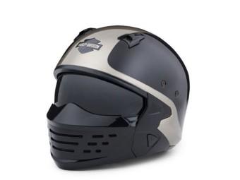 Harley Davidson Sport Glide 2-in-1 Helm Grau/Schwarz