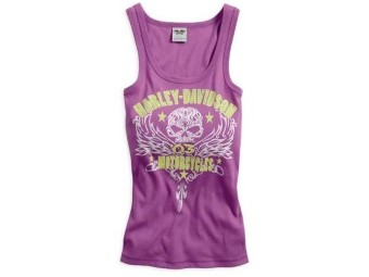 Harley-Davidson® Damen Tanktop SWIRL SKULL EMBELLISHED