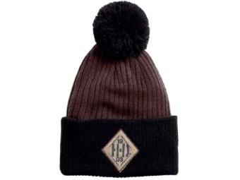 Herren Pom Knit Beanie Mütze