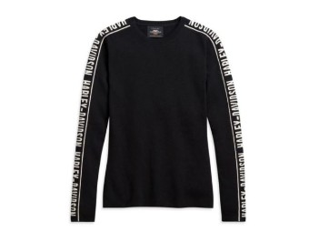 Damen Jacquard Sleeve Sweater