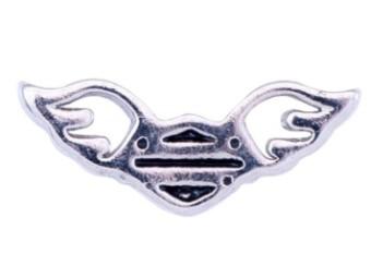 Harley-Davidson® Damen Outline Winged B & S Silber Medaillon Charm