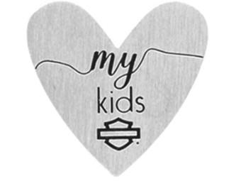 "Harley-Davidson® ""Love My Kids"" Herz Medaillon Charm"