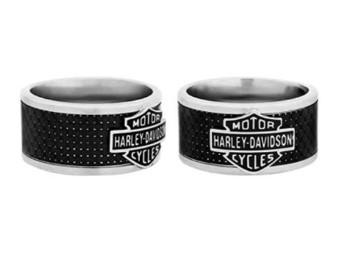 Herren Carbon Fiber Steel Ring