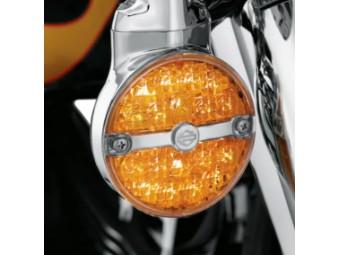 LED-BLINKER MIT FLACHEM GLAS