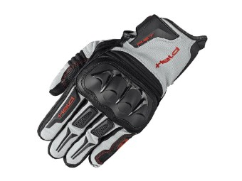 Sambia Handschuhe schwarz grau rot kurze Motorradhandschuhe