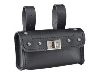 Schlosstasche Cruiser Lock Pocket mit Ziernieten Ledertasche Motorradtasche