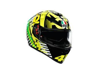 Helm AGV K-3 SV Tribe VR46 Black Yellow Fluo Green