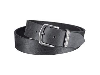 Herren Ledergürtel Gürtel schwarz 40mm