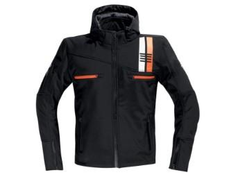 Softshelljacke DIFI Jamie Herren softshell hoodie schwarz weiß