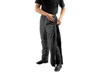 Zip Regenhose schwarz Regenüberziehhose mit langen Reißverschlüssen