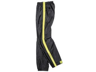 Regenhose Difi Zip schwarz gelb Regenüberziehhose mit langen Reißverschlüssen