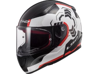 Helm LS 2 FF353 Rapid Ghost White Black Red