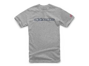 T-Shirt Alpinestars Wordmark Tee grey