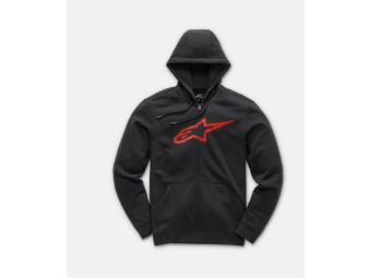 Kapuzenpullover Alpinestars Ageless II Fleece black red