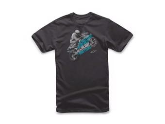T-Shirt Alpinestars Triple Tee black