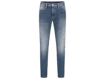 Motorradjeans Rokker Rokkєrtech Tapered Slim Carrot Fit Jeans blau