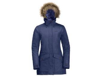 Winterjacke Jack Wolfskin Coastal Range Parka Women lapiz blue