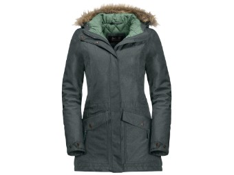 Winterjacke Jack Wolfskin Coastal Range Parka Women greenish grey
