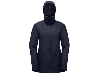 Winterjacke Jack Wolfskin Kiruna Trail Jacket Women midnight blue