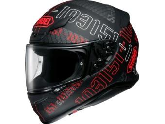 Helm Shoei NXR Permutation TC-1 schwarz rot matt