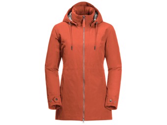 Winterjacke Jack Wolfskin Wildwood Jacket Women saffron orange