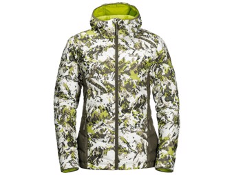 Daunenjacke Jack Wolfskin Helium Peak Hoody Women bright lime all over