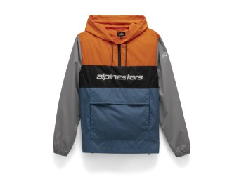 Kapuzenshirt Alpinestars Verso Anorak Jacket orange blue