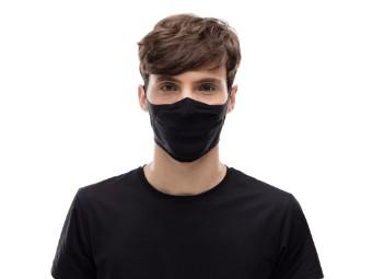 Mund und Nasenschutzmaske Buff Filter Mask Adult Solid Black Gesichtsmaske