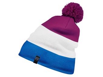 Block Kids Pompom Hat fuchsia/blau/weiss