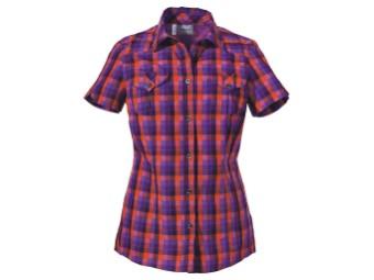 Faro Shirt Women purple glow checks
