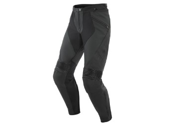 Motorradhose Dainese Pony 3 Leather Pants black matt