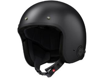Savage Jethelm schwarz matt mit Bluetooth Sprechanlage Interkom Open Face