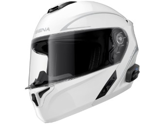 Smart Helm Sena Outrush R Bluetooth 5.0 Motorradhelm Klapphelm weiß