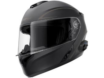 Smart Helm Sena Outrush R Bluetooth 5.0 Motorradhelm Klapphelm schwarz matt