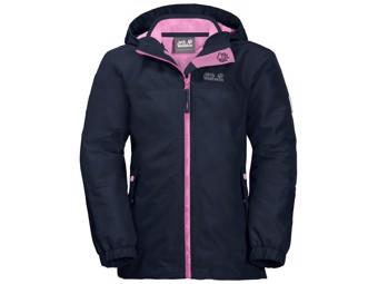 Winterjacke Jack Wolfskin Girls Iceland 3in1 Jacket midnight blue rose