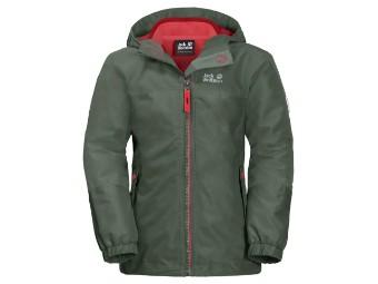 Winterjacke Jack Wolfskin Girls Iceland 3in1 Jacket thyme green