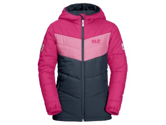 Winterjacke Jack Wolfskin Three Hills Jacket Kids pink peony