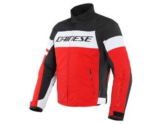Motorradjacke Dainese Saetta D-Dry Jacket white lava red black