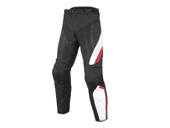 Motorradhose Dainese Drake Air D-Dry Pants schwarz weiß rot