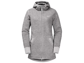 Fleecejacke Jack Wolfskin Patan Long Jacket Women grey haze